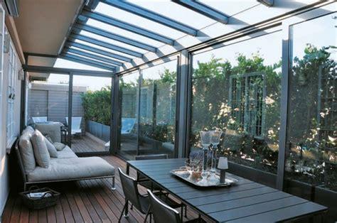 chiudere terrazza con vetro progettazione esterni verande in vetro e giardini d
