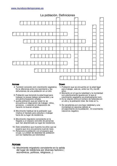 preguntas faciles de contabilidad crucigramas definiciones la poblacion