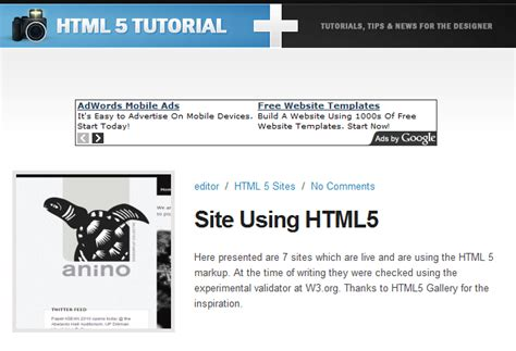 tutorial online html5 5 must see html5 sites