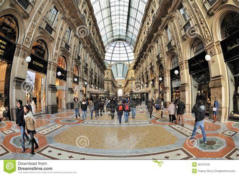 shopping dress di times square milan italy piazza duomo galleria editorial photo