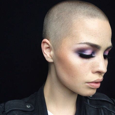 ladies contour haircut 101 best shaved head images on pinterest short hairstyle