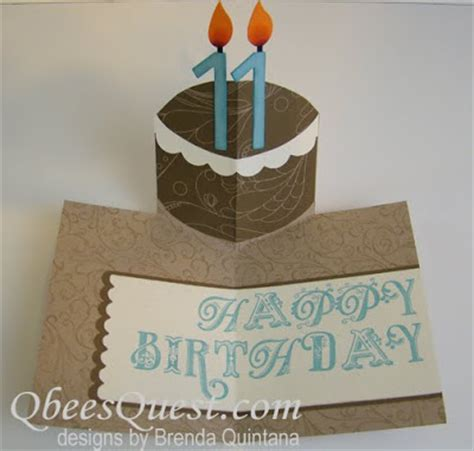 how to make a pop up birthday cake card qbee s quest birthday cake pop up card
