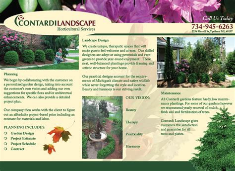 brochure layout landscape contardi landscape brochure on behance