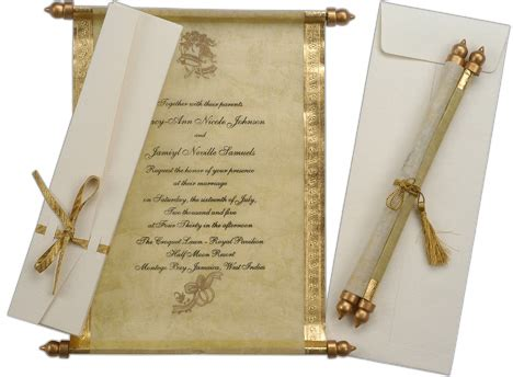 Scroll Wedding Invitations by Unique Wedding Invitations Wedding Scroll Invitations