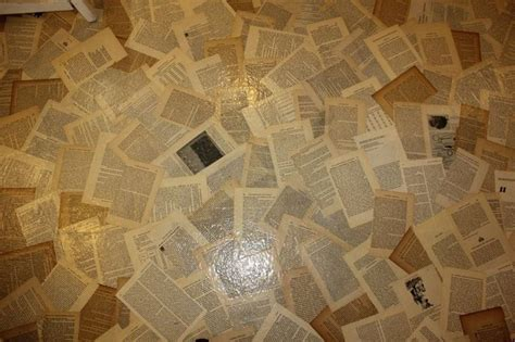 Floor Decoupage Pages Bloody Poetry Home