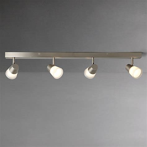 Buy John Lewis Cormack Led Spotlight Bar 4 Light Nickel Kitchen Lights Lewis