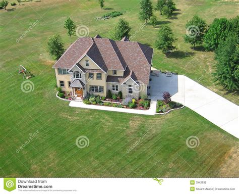 aerial of residential house royalty free stock images
