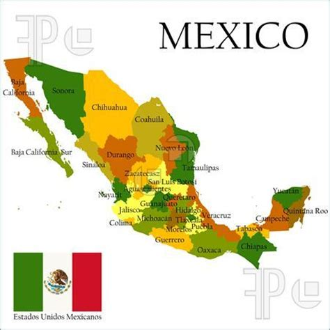 map of the united states and mexico printable mexican flag illustration of mexico united