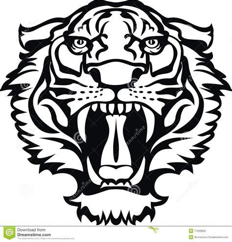 de zwarte witte tatoegering van de tijger vector