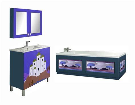 New Clarice Cliff Art Deco Design Painted Vanity Units Deco Bathroom Furniture