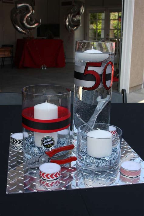 50 birthday centerpiece ideas 50th birthday ideas for tool theme