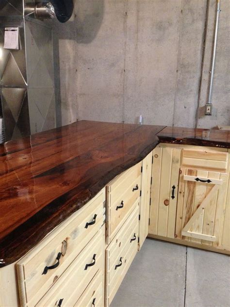 Pine Slab Bar Top 52 Best Images About Log Cabin Ideas On Stains