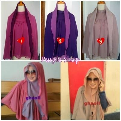 Jilbab Instan Ghaoll purple shop find your s here khimar 2tone by ghaoll