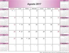 Calendario 2018 Agosto Agosto 2017 Calendario Para Imprimir Calendarios Para