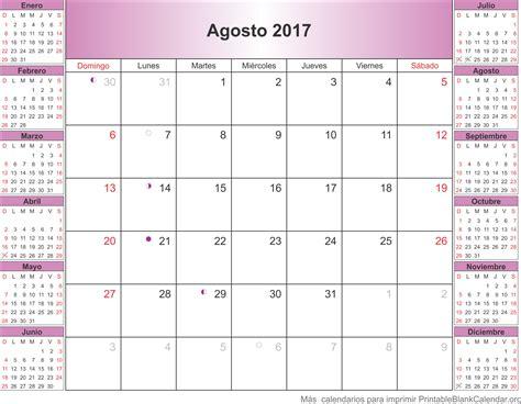 Calendario 2017 Agosto Para Imprimir Agosto 2017 Calendario Para Imprimir Calendarios Para
