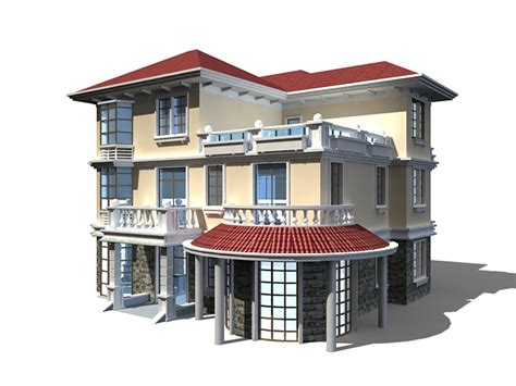 home design software free download 2010 three floor home design 3d model 3ds max files free