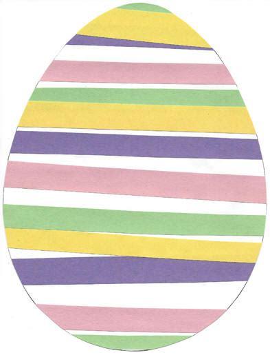 Paper Easter Egg Crafts - easter egg patterning paper craft