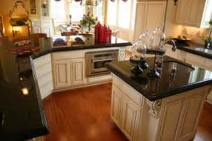 Black Countertop Kitchen Absolute Black Granite Installed Design Photos And Reviews Granix Inc