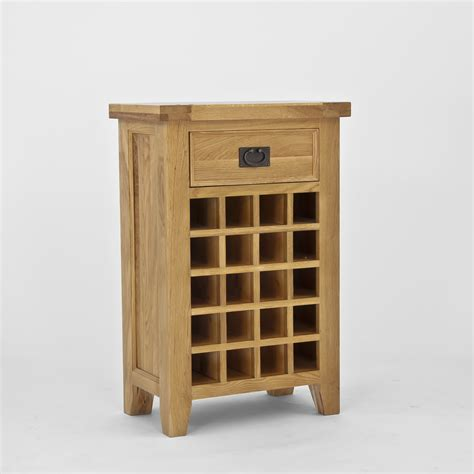 Wine Cabinet Furniture by Chiltern Oak Wine Cabinet With Drawer