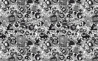 Black And White Wallpaper Bedroom Design - retro black and white design wallpaper 3661