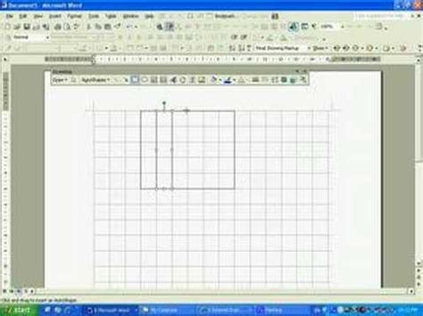 grid pattern on microsoft word drawing a gridline in microsoft word 203 youtube