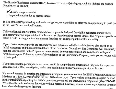 Explanation Letter For Gross Negligence Recently Livescan Fingerprinted And Now Received An Intervention Letter From The Brn Rnguardian
