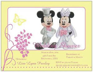 custom mickey minnie mouse wedding shower anniversary invitations cards ebay