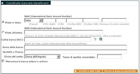 trova abi cab coordinate bancarie beneficiario