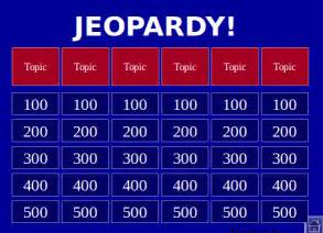 jeopardy template free 15 jeopardy powerpoint templates free sle exle