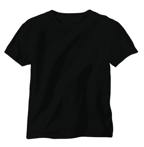 41 Blank T Shirt Vector Templates Free To Download Black T Shirt Template