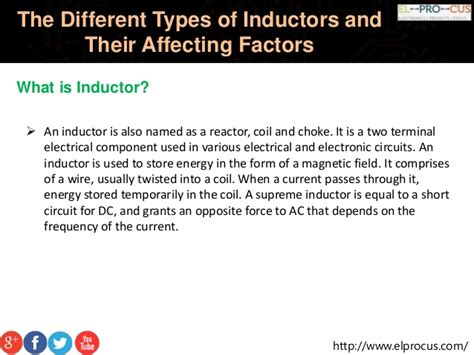 what is the power factor of inductor the different types of inductors and their affecting factors