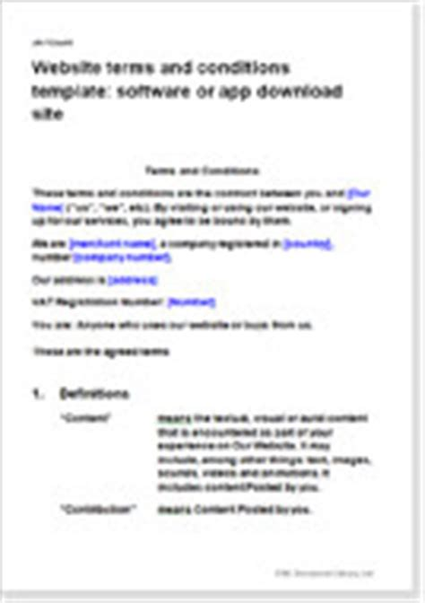 app terms and conditions template website terms and conditions templates t c for web