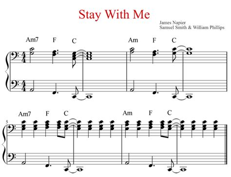 tutorial keyboard stay with me piano piano chords accompaniment piano chords piano