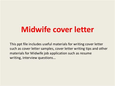application letter sle midwife midwife cover letter