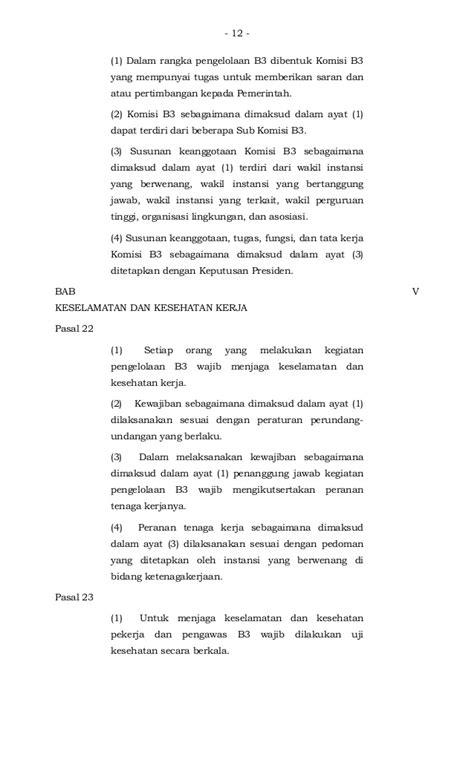 Hpu Himpunan Peraturan Pengelolaan Limbah Bahan Berbahaya Beracun peraturan pemerintah no 74 tahun 2001 tentang pengelolaan bahan berb