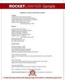Injury Report Form Sample Employee Injury Report Form For Osha Work Accident
