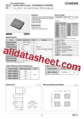 Marker 4 5 Kss By Wobble cx2520sb datasheet pdf kyocera kinseki corpotation