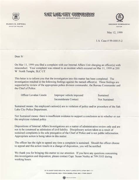 authorization letter to up car from impound salt lake city olympics 2002 brutality
