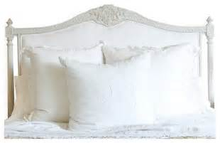 louis xvi country white cotton upholstered
