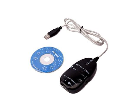 Usb Guitar Link guitar usb interface link cable pc mac recording black to y00083 buy at lowest prices