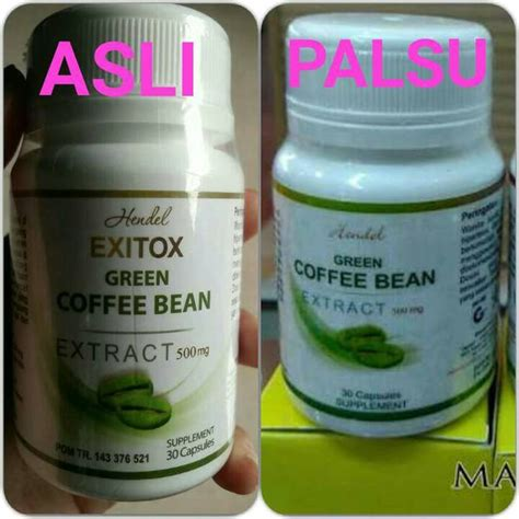 Hendel Exitox Green Coffee Bean jual hendel exitox green coffee bean 100 original kopi