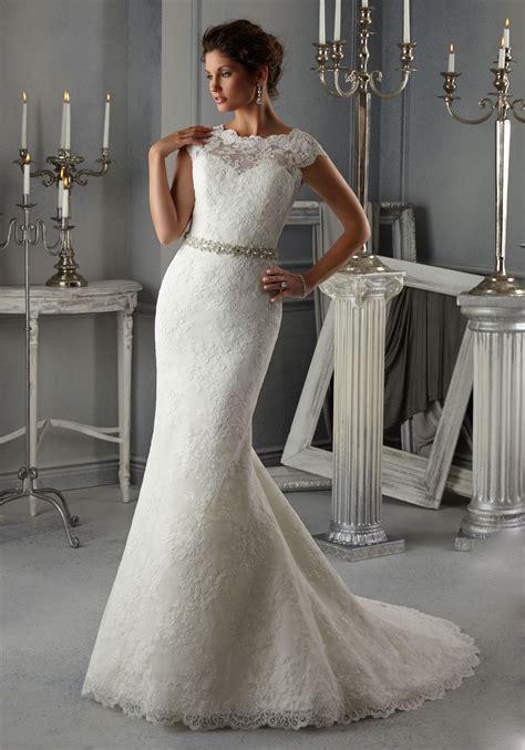 morilee bridal allover alencon lace wedding dress with