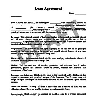 loan agreement letter between two the best