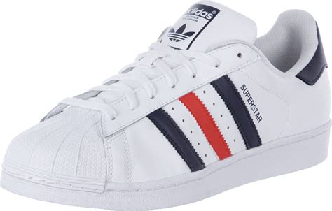 adidas superstar adidas superstar foundation shoes white blue red weare shop