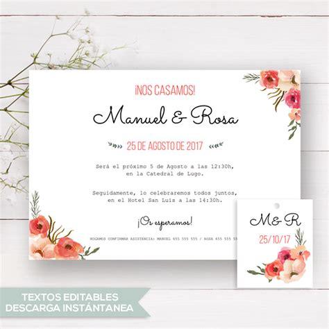 plantillas de invitaciones boda tarjetas invitacian para bodas