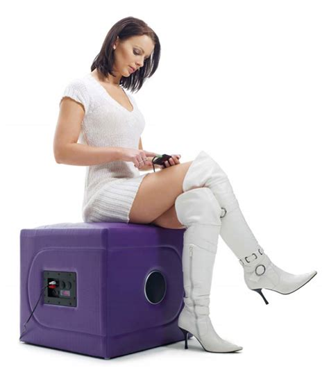 Sitting In Chair In Front Of Speaker by Musicrocker Cube Speaker Chair Literal Rump Shaker