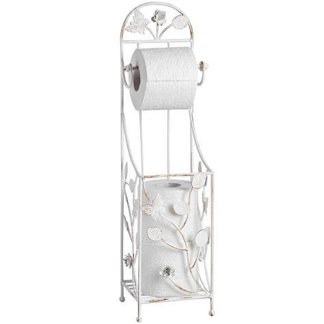 shabby chic cream toilet roll holder bathroom homesdirect365