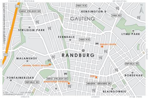 printable driving directions from one place to another randburg map