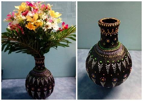Handmade Flower Vases - how to make a handmade flower vase simple craft ideas