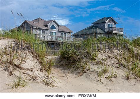 houses in frisco carolina frisco outer banks carolina side homes on stilts stock photo royalty free image